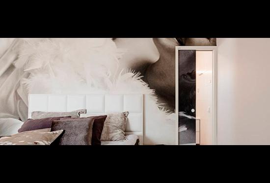 Los papeles pintados y las puertas corredizas de Eclisse, sí son compatibles