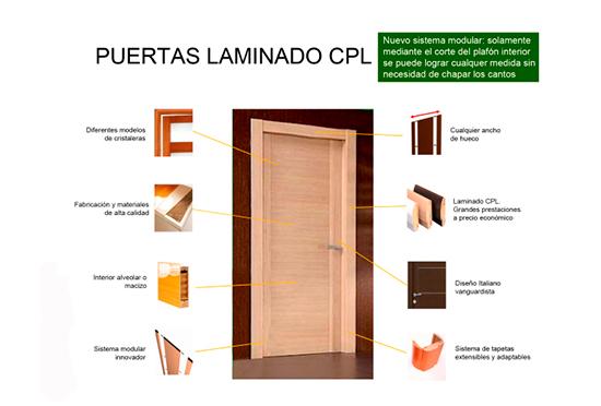 Puertas con laminado CPL, una alternativa a la madera
